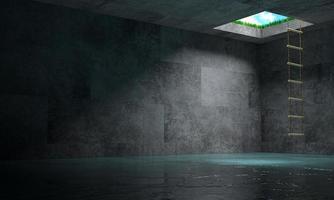 lumière au bout du concept de tunnel