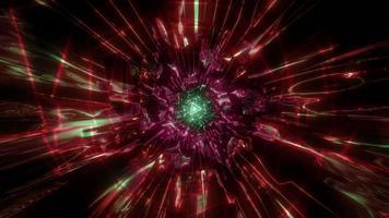 brillant néon triangle filaire illustration 3d conception oeuvre fond d'écran photo