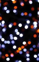 lumières défocalisées colorées