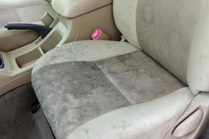 taches sur les sièges d'auto photo