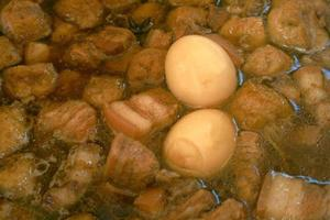 oeufs aux épices thaïlandais appelés kai palo ou pa-lo photo