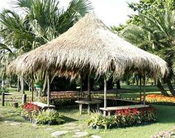 cabane à l'extérieur dans un jardin