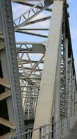 ligne de chemin de fer avec pont de fer photo
