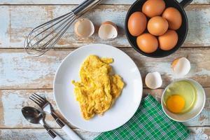 menu omelette cuite