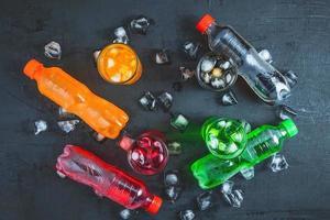 boissons gazeuses colorées