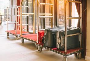 chariots à bagages d'hôtel