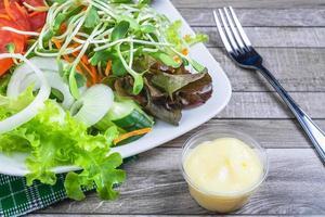gros plan, de, salade, sur, a, assiette