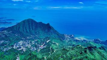 Vue aérienne de la nouvelle ville de Taipei photo