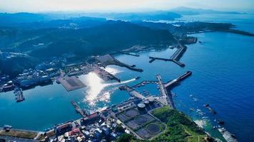 vue aérienne de la ville de keelung photo
