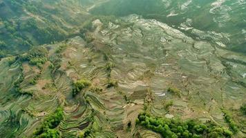 Vue aérienne du Yunnan, Chine photo