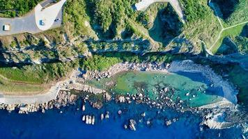 vue aérienne des bateaux et des bâtiments photo