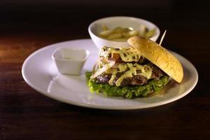 burger colombien de restauration rapide