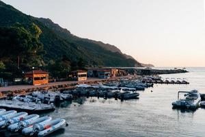 Corse, France, 2020 - petit port au coucher du soleil photo