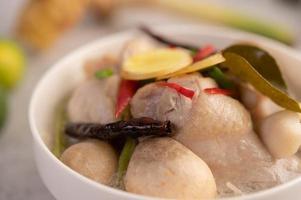 soupe de poulet et lait de coco