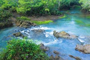 rivière et rochers en forêt photo