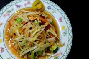 nourriture thaïe somtum