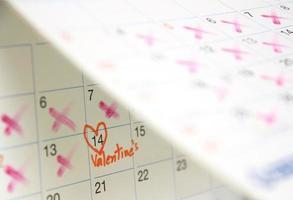 saint valentin sur le calendrier photo