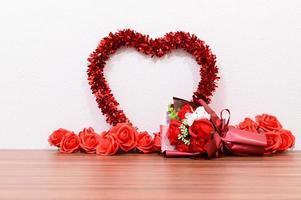 bouquet avec un coeur photo