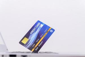 carte de crédit bleue photo