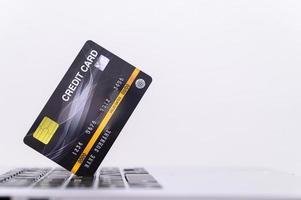 carte de crédit noire photo