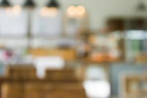 scène de café ou de restaurant floue pour le fond