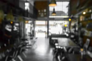 scène de café ou de restaurant floue pour le fond photo