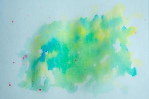 aquarelle verte et jaune