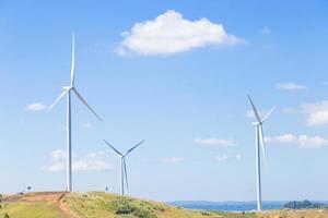 éoliennes pour produire de l'énergie photo
