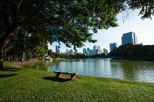 banc dans le parc
