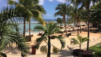 vue sur la plage de l'île