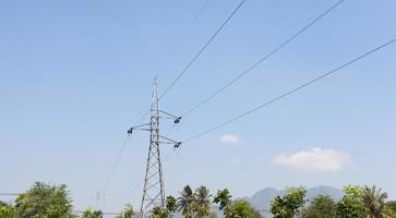 Pylône électrique haute tension en Thaïlande
