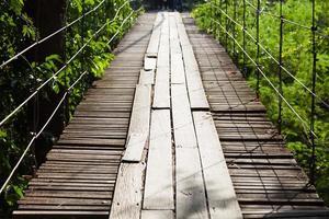 pont suspendu en bois