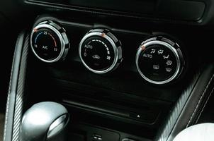 boutons de commande de climatiseur de voiture
