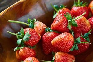 gros plan, de, fraises photo
