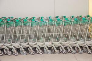 caddies dans un supermarché