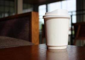 tasse à café blanche à emporter photo