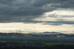 forêt couverte de brouillard en thaïlande photo