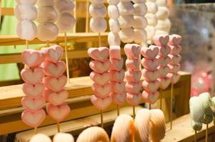 bonbons à la guimauve en forme de cœur