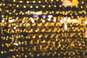 lumières bokeh dorées