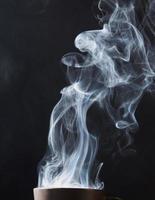 vapeur sur noir
