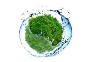 concept de terre et d'eau verte