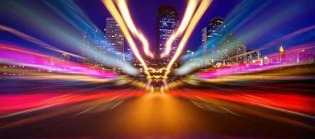lumières de voiture abstraites photo