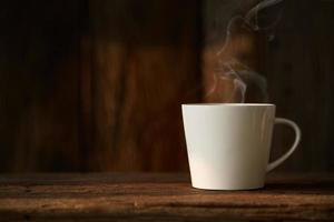 tasse de café blanc photo