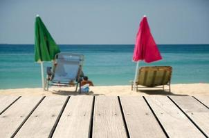 scène de plage pour le placement de produit