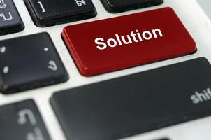 bouton solution sur un clavier photo