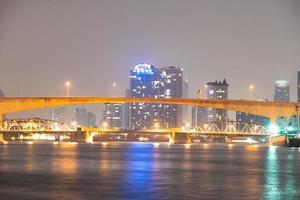 Pont sur la rivière dans la ville de Bangkok