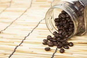 bouteille de grains de café