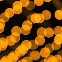 lumière bokeh orange