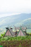 cottages dans une ferme en thaïlande