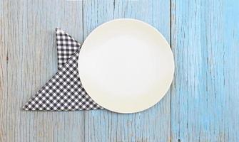 assiette et chiffon photo